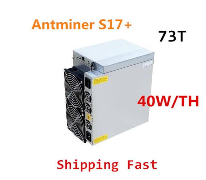 AntMiner S17 + 73TH/S Mit NETZTEIL BTC BCH Miner Besser Als S9 S15 S17 S17 Pro S17E T9 + T17 T17E WhatsMiner M3X M21S M20S Ebit