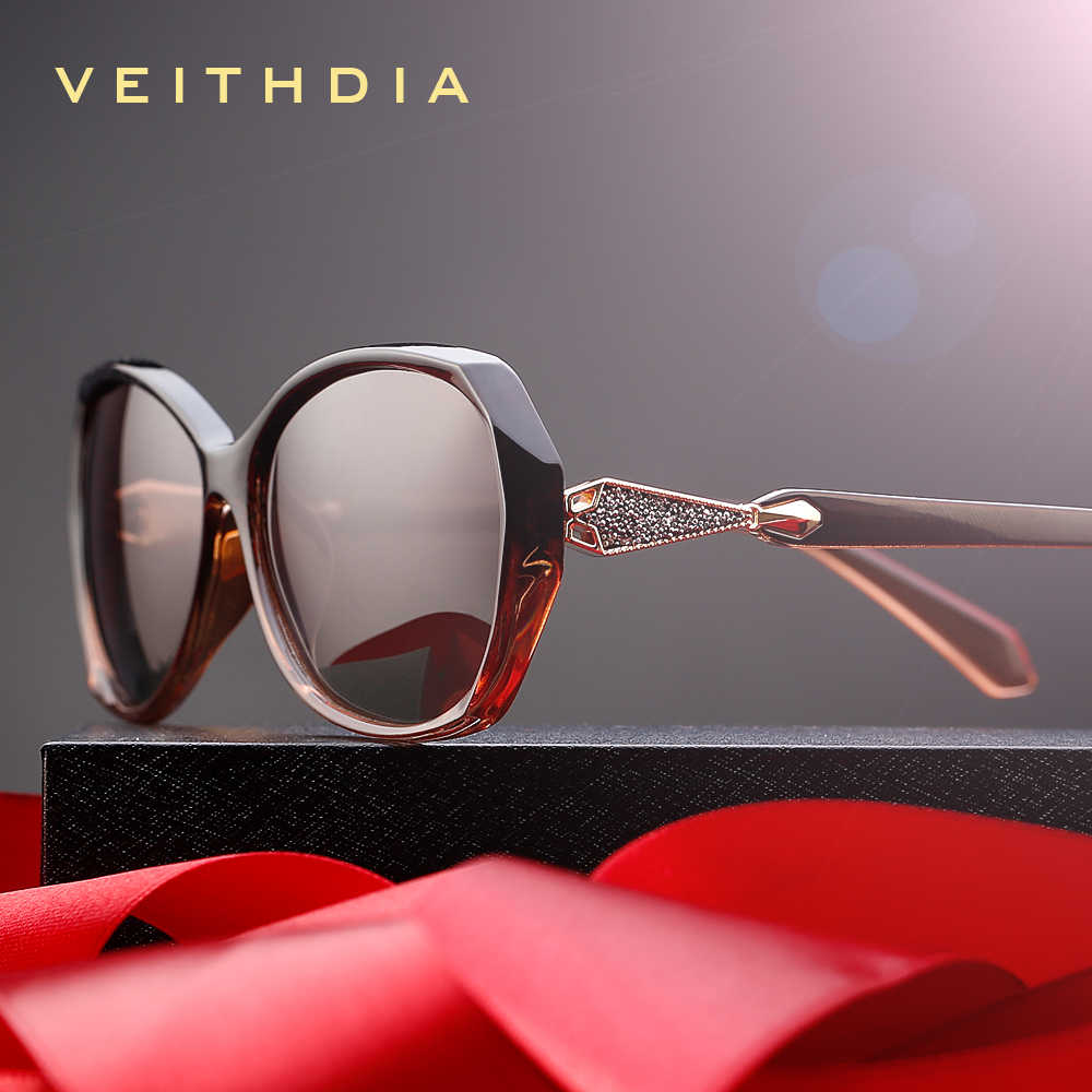 VEITHDIA Women's Sun glasses Polarized Gradient Lens Luxury Ladies Designer Sunglasses Eyewear Accessories For Women 3170