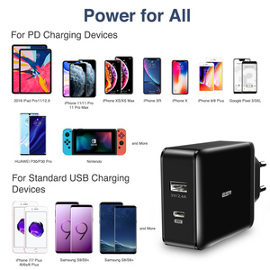 Image 5 - ESR PD Charger 30W USB C USB Dual Port Quick Charging Wall Charger 18W Fast Charger for iPhone 12 Pro Max SE 11 Pro XR XS Max