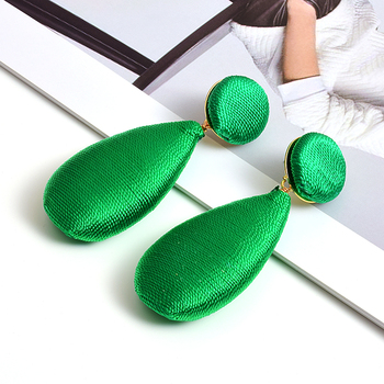 Satin Statement Handmade Drop Earrings  4