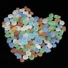 Vidro colorido 100g, vidro de cor de vidro fosco natural para aquário, cenário do tanque de peixes, decoração de casa, faça você mesmo, 5-15mm