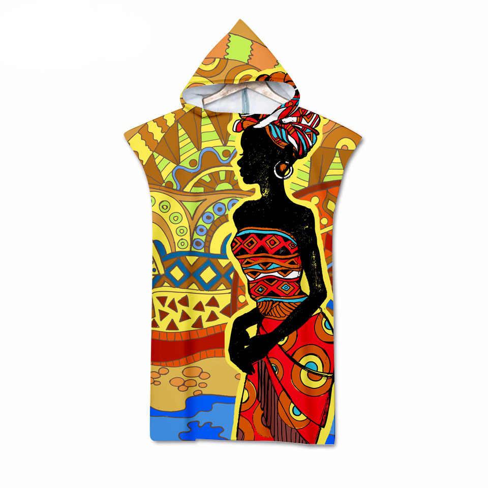 مصر المرأة Demon ثلاثية الأبعاد الطباعة الرقمية مقنعين منشفة يمكن ارتداؤها منشفة استحمام للكبار السفر مناشف شاطئ من الميكروفايبر 06