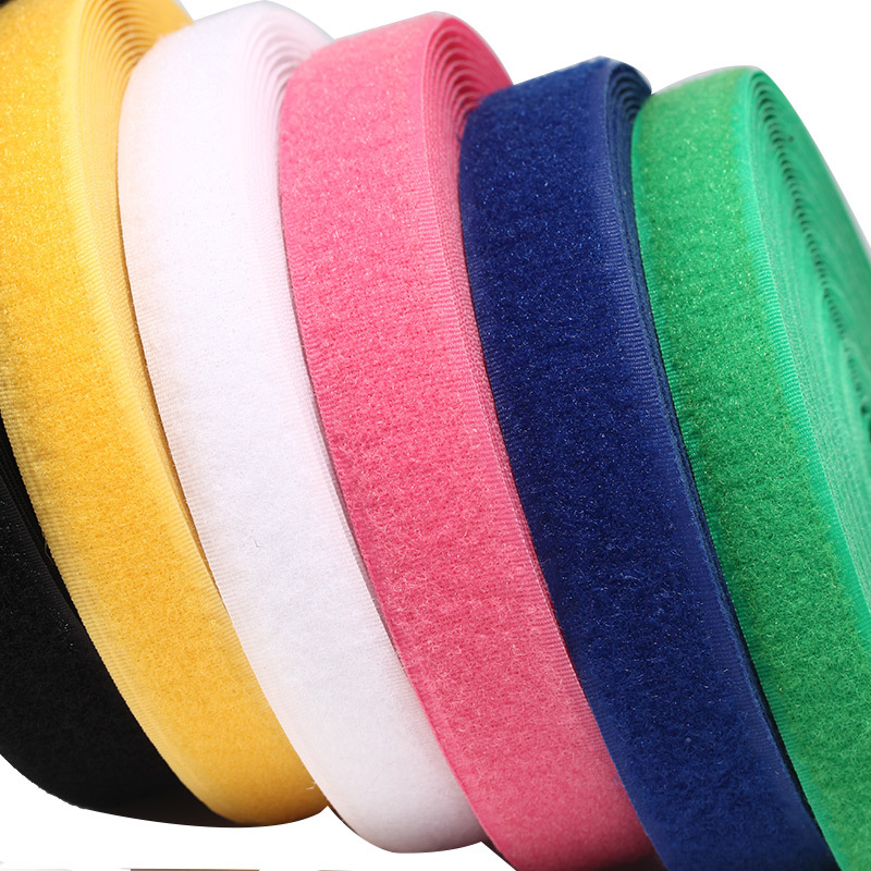 Color : 14blue ZICHEN 2cm*1M Velcros Colorful Nylon Hook Loop Fastener No Glue Sweing Magic Tape Cable Ties Sewing-on Strips Accessories