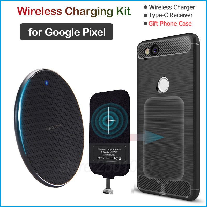 Wireless Charging for <font><b>Google</b></font> <font><b>Pixel</b></font> 2 <font><b>3a</b></font> XL Qi Wireless <font><b>Charger</b></font>+USB Type C Receiver Gift TPU Case for <font><b>Pixel</b></font> 2 2XL <font><b>3a</b></font> 3aXL image
