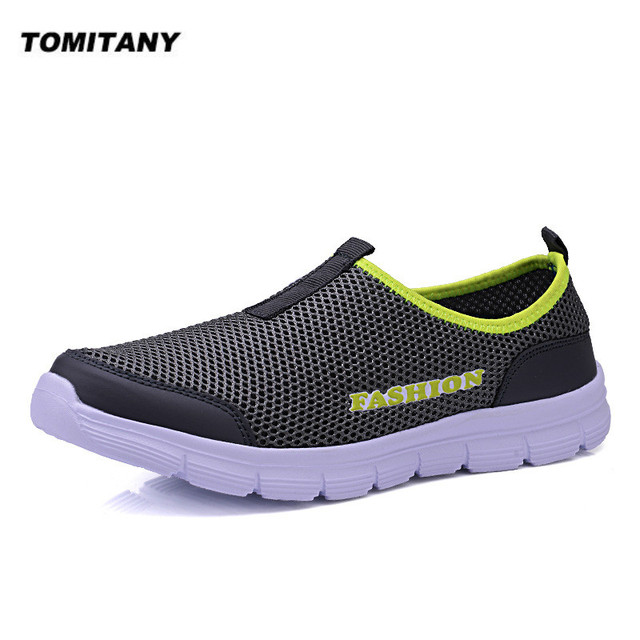 Breathable Mesh Casual Men Shoes Summer Sneakers Men Footwear Running Shoes Men's Lightweight Slip-on Sandals Zapatos De Hombre 1