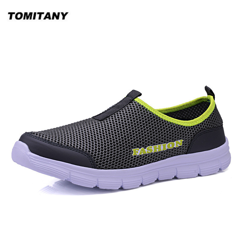 Breathable Mesh Casual Men Shoes Summer Sneakers Men Footwear Running Shoes Men's Lightweight Slip-on Sandals Zapatos De Hombre