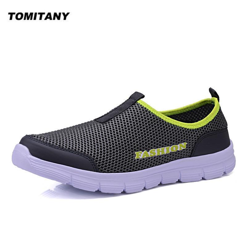 Breathable Mesh Casual Men Shoes Summer Sneakers Men Footwear Running Shoes Men's Lightweight Slip-on Sandals Zapatos De Hombre
