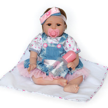 Reborn Baby Dolls 22 Inch Quality Realistic Handmade Babies Dolls Girls Soft Vinyl Silicone Lifelike Kids Gifts Bebe Reborn Doll цена