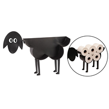 Cast Iron decoration Sheep Toilet Roll Holder, Wall Mounted or Free Standing for