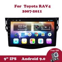 Android 9.0 IPS GPS Navigation WiFi Video Player for Toyota RAV4 RAV 4 2007 2008-2011 Car Multimedia Player Stereo DVD 9.0 inch автомобильный dvd плеер joyous kd 7 800 480 2 din 4 4 gps navi toyota rav4 4 4 dvd dual core rds wifi 3g