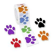500шт цвет милый щенок кот след наклейка 1-дюймовый гитарный ноутбук стены холодильник украшения классические игрушки