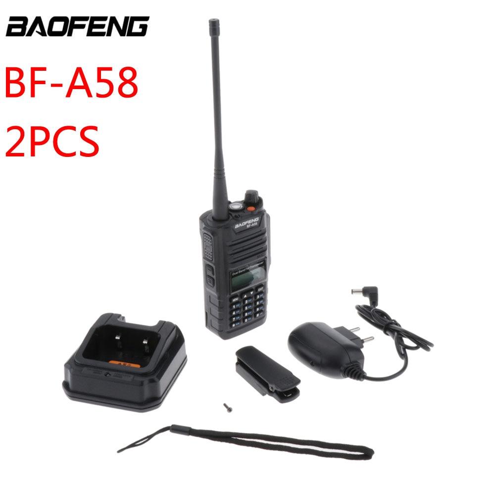 2 шт. Baofeng BF-A58 портативная рация Двухдиапазонная рация VHF/UHF портативная двухсторонняя радио CB радиостанция приемопередатчик рация