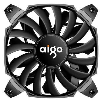 Aigo BX12 podwozie obudowa PC wentylator chłodzący wentylator 120mm wentylator 4 PIN chłodzenia wentylator chłodnicy ciche o zmiennej wentylator kontrola temperatury tanie i dobre opinie darkflash CN (pochodzenie) Komputer przypadku AMD and Intel Fluid Łożyska 100000 godzin 1300 rpm 28dBA RGB Wsparcie 50 5 CFM