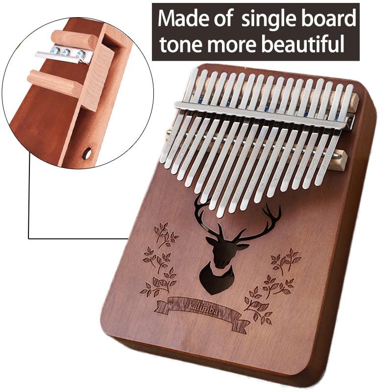 Qixingyue Kalimba 17 Keys Calimba Thumb Piano колимба Mbira Muspor Musical Instrument High Quality Mahogany Body With Accessory