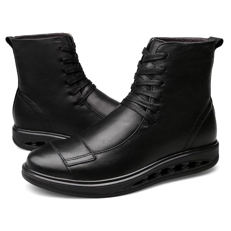 Ботинки «Челси»; мужские удобные ботинки наивысшего качества на шнуровке; модные повседневные кожаные ботинки из натуральной кожи; Мужские... - 4