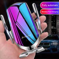 Rapide 10W Qi rapide sans fil automatique de serrage chargeur de voiture montage capteur infrarouge voiture de charge évent support pour téléphone Mobile Stand