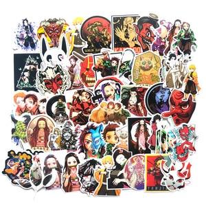 Image 1 - 50Pcs Demon Slayer: kimetsu Geen Yaiba Anime Sticker Leuke Pvc Graffiti Stickers Koffer Bagage Gitaar Voor Kinderen Speelgoed F3
