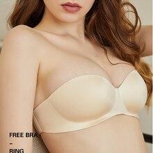 Sexy Dessous Push Up Unsichtbare Bhs für Frauen Liebsten Nahtlose Bralette Einteiliges Draht Freies Dünne 1/2Cup nicht Slip Unterwäsche