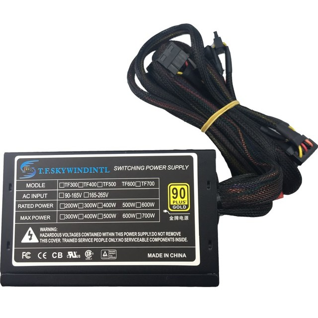 Real 600W Power Supply for PC 600W ATX PSU  Power Supply PSU PFC Silent Fan ATX 24pin 12V PC Computer SATA Gaming PC PSU