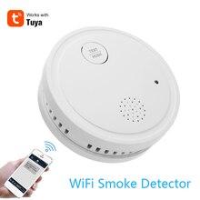 Tuya 433 МГц WiFi стробоскоп детектор дыма Беспроводная независимая сигнализация домашний охранный детектор дыма датчик пожарное оборудование