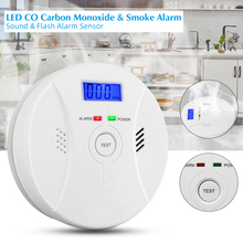 High Sensitive Smoke Fire Poisioning Alarm and Carbon Monoxide Detector with LCD Display Battery Operated Smoke CO Gas Warning lemax village collection camp fire battery operated 04273