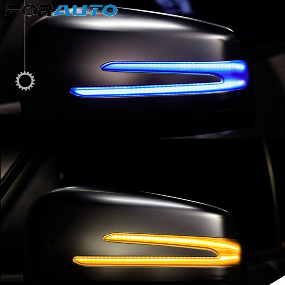 FORAUTO LED Indicator Blinker Lamp Turn Signal Light Car Rear View Mirror Light For W221 W212 W204 W176 W246 X156 C204 C117 X117