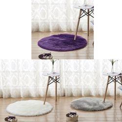 Fashionfaux kożuch wełniany dywan 30x30 cm puszysty miękki longhair dekoracyjny dywan poduszka krzesło sofa mat