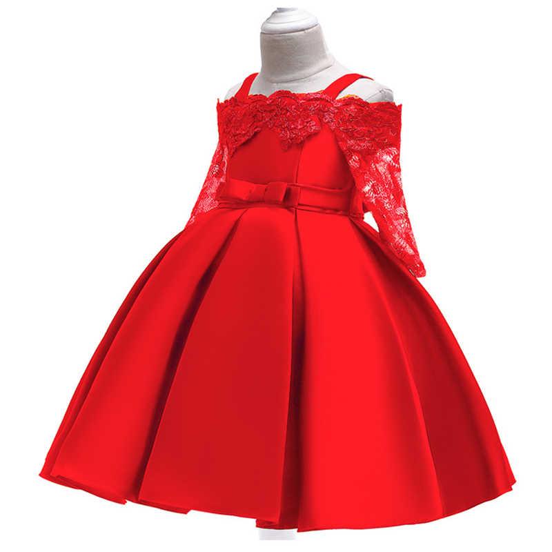 Vestido de niña de 3-10 años vestido de verano de satén bordado para niños Ropa para Niñas vestido de fiesta de cumpleaños vestidos de princesa elegantes para bebés