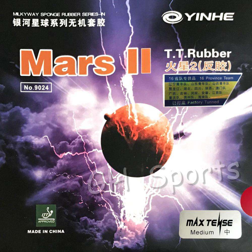 Galaxy  Milky Way Yinhe Mars II Mars2 Factory Tuned Pips In Table Tennis Rubber With Sponge