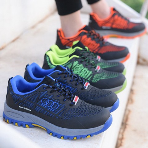 Men Work Safety Boots Steel Toe Shoes Breathable Work Safety Boot Protective Puncture Proof Work Shoes For Men Casual Sneakers Lahore