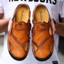 Мужские классические сандалии из натуральной кожи размеры 48