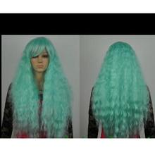 zhaoxia++01439@Q8++Cosplay long Light Green Curly Heat Resis