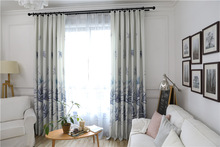 Thickened Velvet Imprint Half Shade Curtains for Living Dining Room Bedroom.