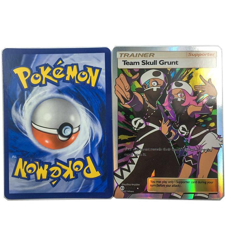 Takara Tomy Pokemon CardNewest Toys Hobbies Game Collection 100pcs Shining English Pocket Monster Trainer GX EX