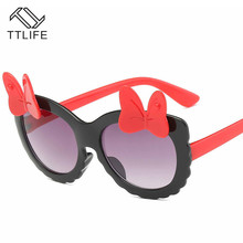TTLIFE Children Goggle Girls Sunglasses Bow Hot Fashion Boys Baby Child Sunglass Classic Retro Cute Sun Glasses Cat Eye
