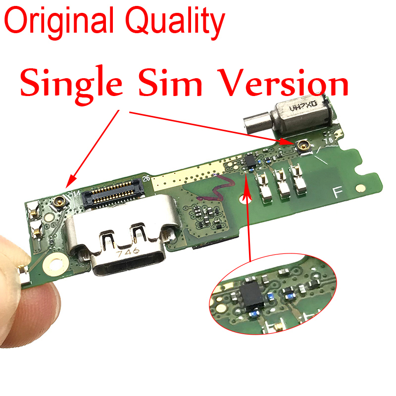 New Tested For Sony Xperia XA1 G3121 G3125 G3112 Charging Port Flex Cable USB Connector Dock With Vibrator Flex Cable Reparts