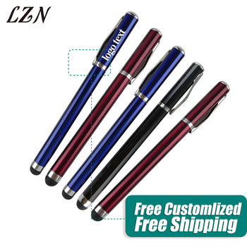 LZN Stylus Pen Ballpoint Pen Touch Screen Metal Capacitance pen for IPhone Samsung Free Personalized Logo/Text as Wedding Gifts