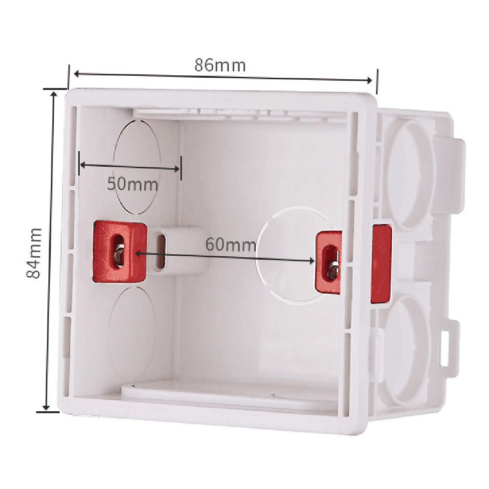 Mounting Box for 86*86mm  Wall Switch and Socket Wallpad Cassette Universal White Wall Back Junction Box 86 type