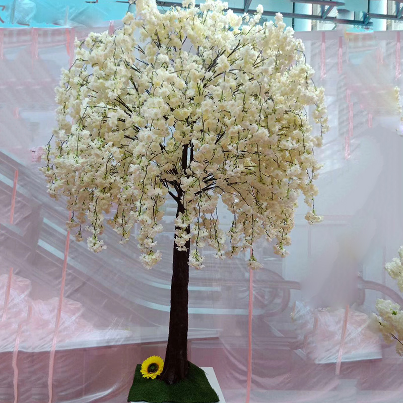 2M Height Artificial Cherry Blossom Tree Christmas Fairy Garden Party Wedding Centerpieces Decorations Artificial Plant 6.5ft