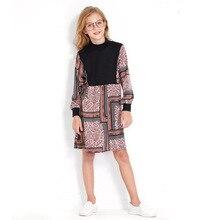 Girl Dress Autumn 6 8 10 12 14 Years Cute Girls Long Sleeves Elegant Dress Kids 2019 Teenager Party Casual Dresses For Teenagers недорого