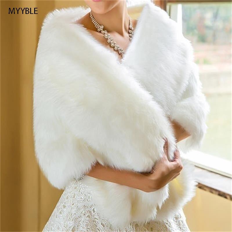 MYYBLE 2020 Venta Caliente Barato Elegante Abrigo De Piel Abrigo De Boda Chal Chaqueta De Novia Accesorios Abrigo De Boda