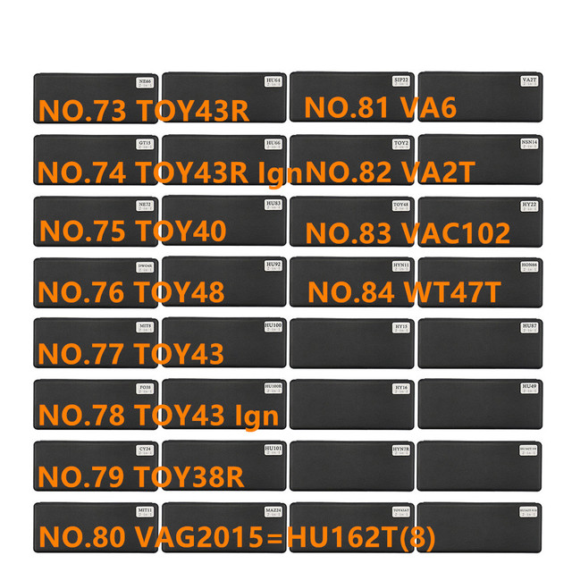 Diastar 73 84 lishi Herramienta 2 en 1 TOY43R TOY40 TOY48 TOY43 TOY38R VAG2015 HU162T(8) VA6 VA2T VAC102 WT47T Ign