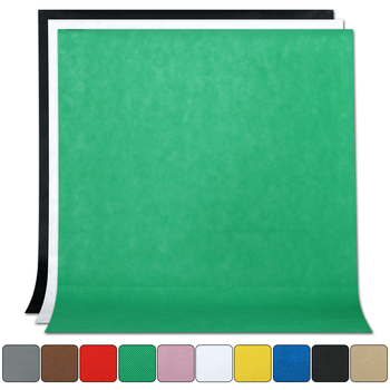 1.6Mx2M/3M/4M Photography Photo Studio Simple Background Backdrop Non-woven Solid Color Green Screen Chromakey 10 color Cloth 1