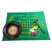 Board Deck Game Roulette Wheel And Poker Chips Set Leisure Entertainment Table Games For Adults Children Party