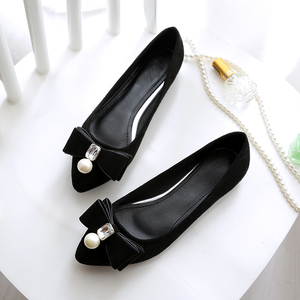 Image 3 - BEYARNE2019 zapatos planos de perlas para mujer, zapatos náuticos coreanos, zapatos de cristal para mujer, de talla grande, zapatos cómodos para womenE1146