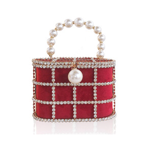 Image 5 - Diamonds Basket Evening Clutch Bags Women 2019 Luxury Hollow Out Preal Beaded Metallic Cage Handbags Ladies Wedding Party Purse