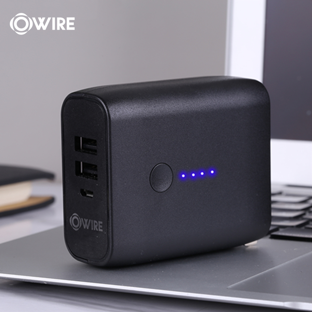 OWIRE 2in1 Charger and Power Bank 5000mAh Dual-Mode Dual-Port 3A Fast Charge for Apple Android Phone Tablet(China)