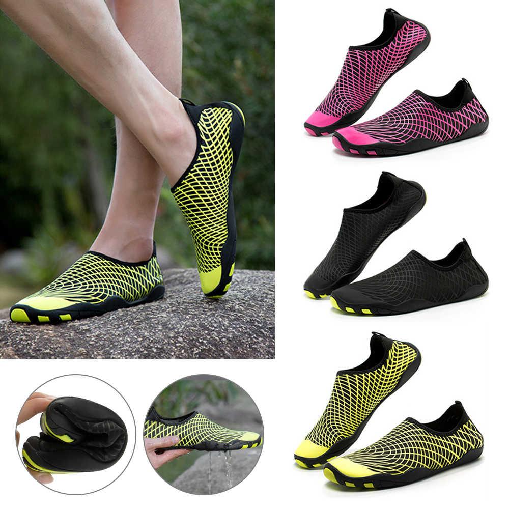 Buty z palcami tenisówki typu uniseks plaży buty do wody dla buty do pływania kobiety mężczyźni Sneakers buty do nurkowania kapcie na morze buty
