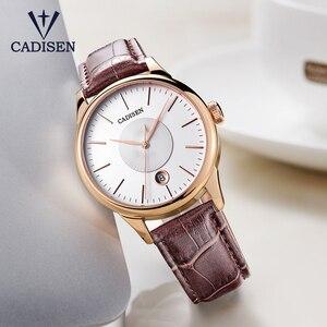 Image 3 - CADISEN 2019 יוקרה גברים של אוטומטי שעון עור מכאני שעון צבאי עסקי פנאי עסקים עמיד למים לוח שנה גברי