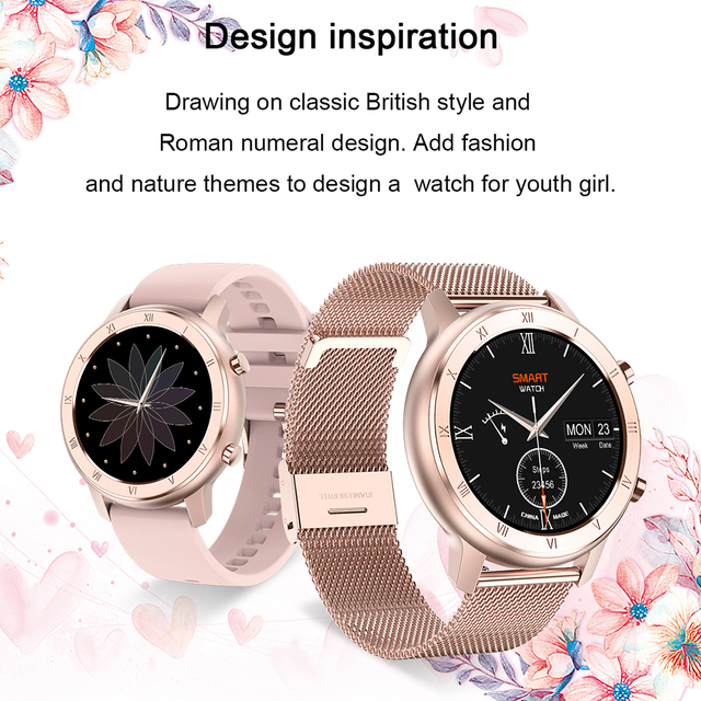 Full Touch Smart Watch Women IP68 Waterproof Bracelet ECG Heart Rate Monitor Sleep Monitoring Sports Smartwatch For Ladies 3